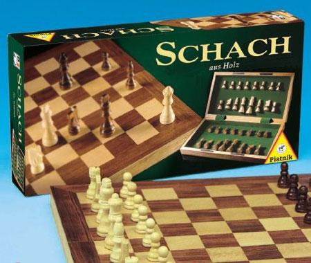 Schach - Holzkassette, groß (Piatnik)