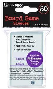 Ultra Pro - 50 Kartenhüllen für Kartengröße 44 x 68 mm