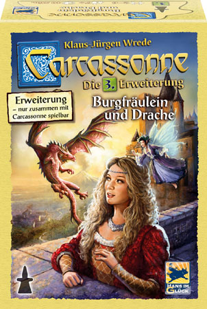 Carcassonne - Burgfräulein und Drache (3.Erweiterung)