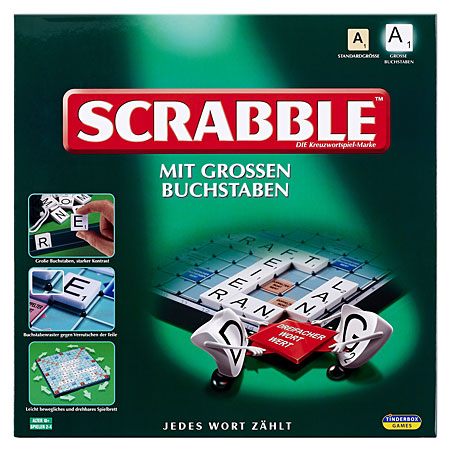 Scrabble - Mit großen Buchstaben