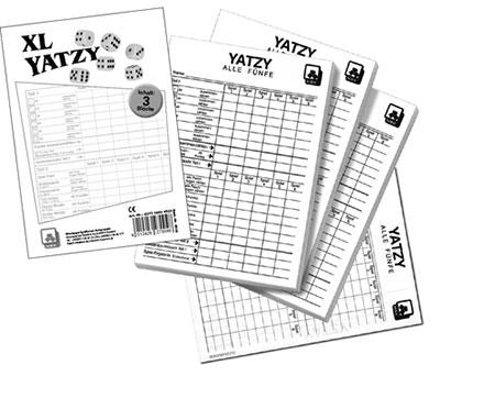 Yatzy Extra Classic Spielblock 3er