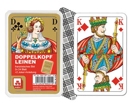 Doppelkopf Premium Leinen - Französisches Bild