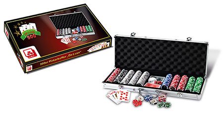 500er Pokerkoffer - De Luxe
