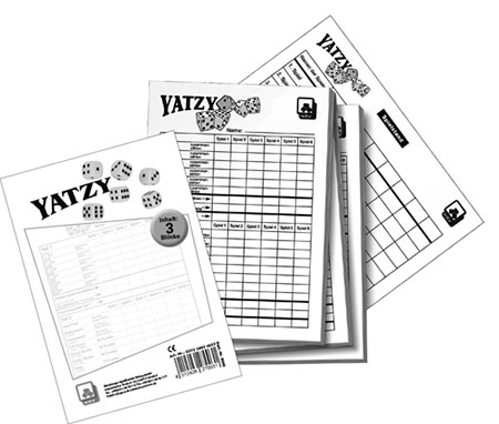 Yatzy Spielblock 3er