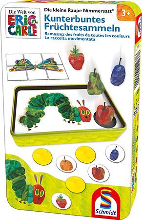 Die kleine Raupe Nimmersatt - Kunterbuntes Früchtesammeln Metalldose