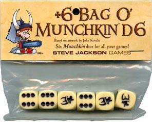 6 Bag O Munchkin D6