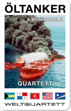 Öltanker und Bohrinsel Quartett