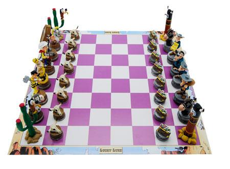 Schachspiel Lucky Luke