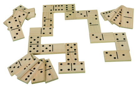 Outdoor Holz-Domino