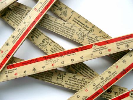 Zahlen am laufenden Meter - Der Mathe Zollstock