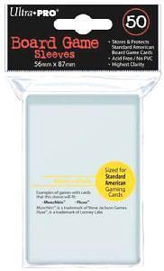 Ultra Pro - 50 Kartenhüllen Standard American für Kartengröße 56 x 87 mm