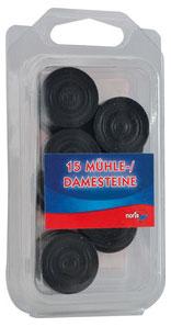 Dame & Mühlesteine Holz schwarz