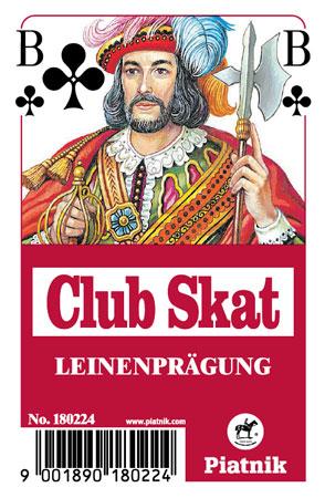 Skat Leinen Spielkarten, Rote Rückseite
