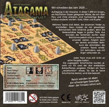 Atacama – The mining conflict (2. Auflage mit 3-Spieler-Plan)