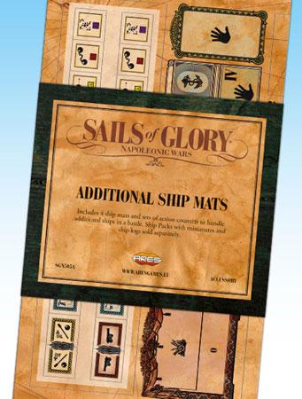 Sails of Glory: Additional Ship Mats (engl.)