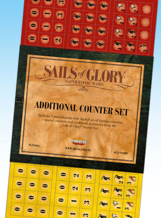 Sails of Glory: Additional Counter Set (engl.)