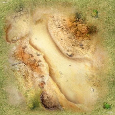Spielmatte Wüste (60 x 60 cm)