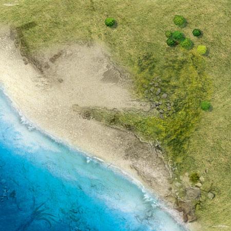 Spielmatte Küste (90 x 90 cm)