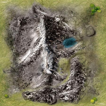 Spielmatte Gebirge (90 x 90 cm)