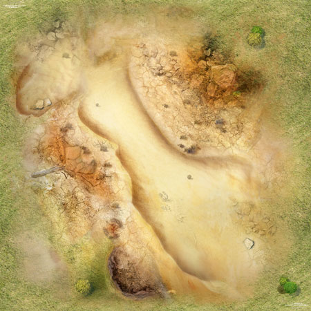 Spielmatte Wüste (90 x 90 cm)
