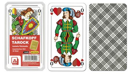 Schafkopf – Classic – karierte Rückseite