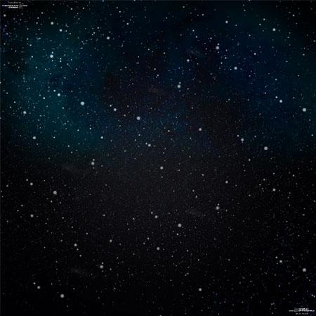 Spielmatte Weltraum (90 x 90 cm)