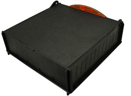 e-Raptor Kartenbox Schwarz aus Holz