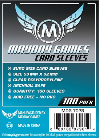 Mayday - 100 Kartenhüllen Euro Standard für Kartengröße 59 x 92 mm