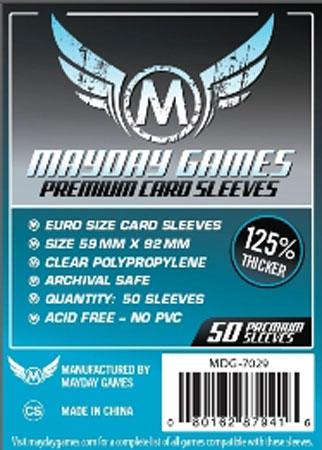 Mayday - 50 Kartenhüllen Premium Euro Standard für Kartengröße 59 x 92 mm