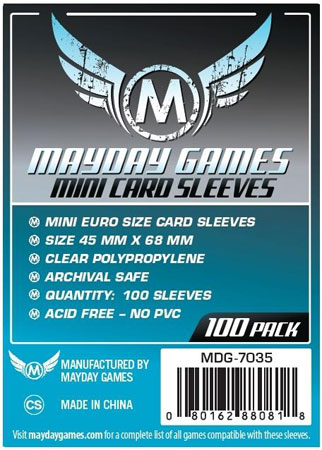 Mayday - 100 Kartenhüllen Mini Euro für Kartengröße 45 x 68 mm