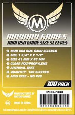 Mayday - 100 Kartenhüllen Mini USA für Kartengröße 41 x 63 mm