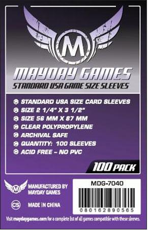 Mayday - 100 Kartenhüllen USA Standard für Kartengröße 56 x 87 mm