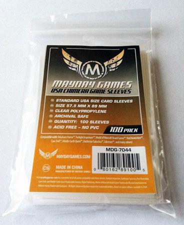 Mayday - 100 Kartenhüllen USA Chimera für Kartengröße 57,5 x 89 mm