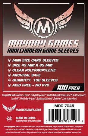 Mayday - 100 Kartenhüllen Mini Chimera für Kartengröße 43 x 65 mm