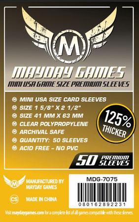 Mayday - 50 Kartenhüllen Premium USA für Kartengröße 41 x 63 mm
