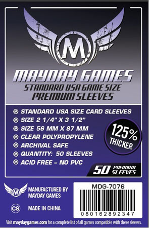 Mayday - 50 Kartenhüllen Premium USA Standard für Kartengröße 56 x 87 mm