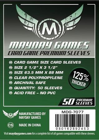 Mayday - 50 Kartenhüllen Premium für Kartengröße 63,5 x 88 mm