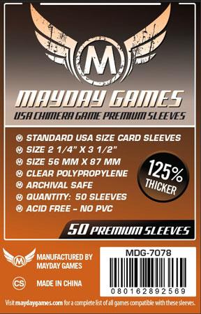Mayday - 50 Kartenhüllen Premium USA Chimera für Kartengröße 57,5 x 89 mm