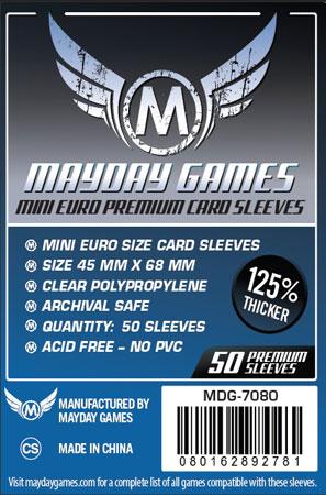 Mayday - 50 Kartenhüllen Premium Mini Euro für Kartengröße 45 x 68 mm