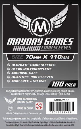 Mayday - 100 Kartenhüllen Magnum für Kartengröße 70 x 110 mm
