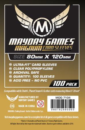Mayday - 100 Kartenhüllen Magnum für Kartengröße 80 x 120 mm