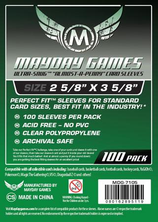 Mayday - 100 Kartenhüllen für Kartengröße 66,6 x 92 mm
