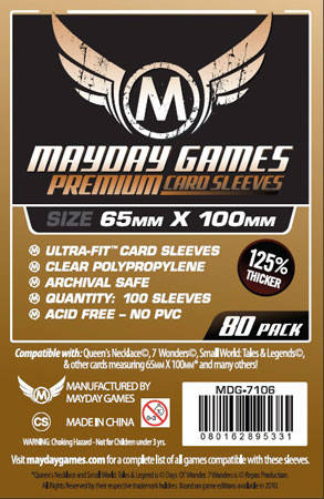 Mayday - 80 Kartenhüllen Premium Magnum für Kartengröße 65 x 100 mm