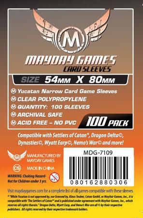 Mayday - 100 Kartenhüllen Yucatan für Kartengröße 54 x 80 mm