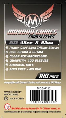Mayday - 100 Kartenhüllen Tribune für Kartengröße 49 x 93 mm