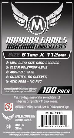 Mayday - 100 Kartenhüllen Magnum für Kartengröße 61 x 112 mm