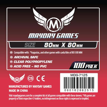 Mayday - 100 Kartenhüllen quadratisch mittel für Kartengröße 80 x 80 mm