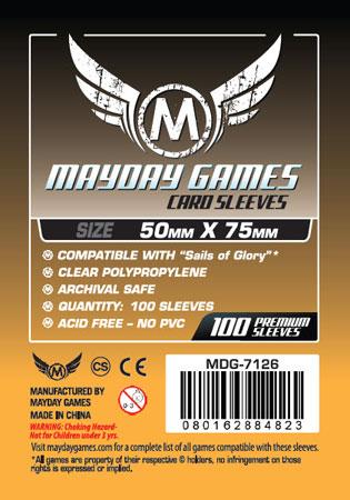 Mayday - 100 Kartenhüllen für Kartengröße 50 x 75 mm