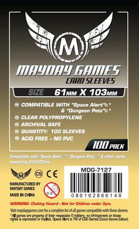 Mayday - 100 Kartenhüllen für Kartengröße 61 x 103 mm