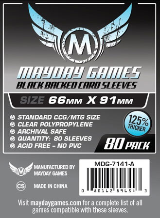 Mayday - 80 Kartenhüllen schwarz für Kartengröße 63,5 x 88 mm